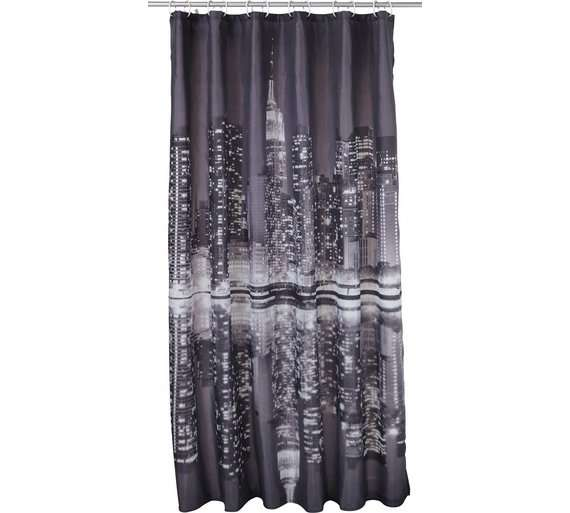 HOME New York Skyline Shower Curtain Argos