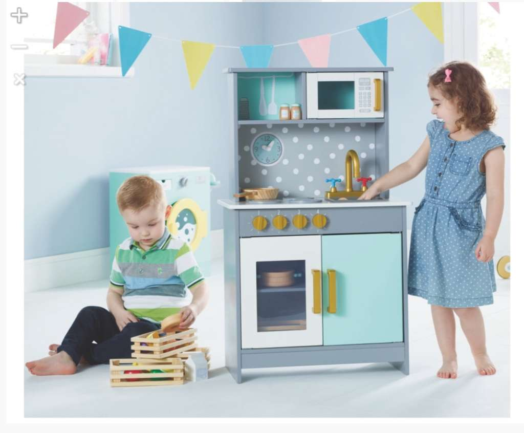 Children\'s Wooden deluxe toy kitchen - from £32 from Asda George ...