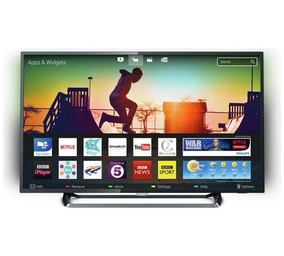 philips 55pus6262 55 inch 4k uhd hdr ambilight smart tv. Black Bedroom Furniture Sets. Home Design Ideas