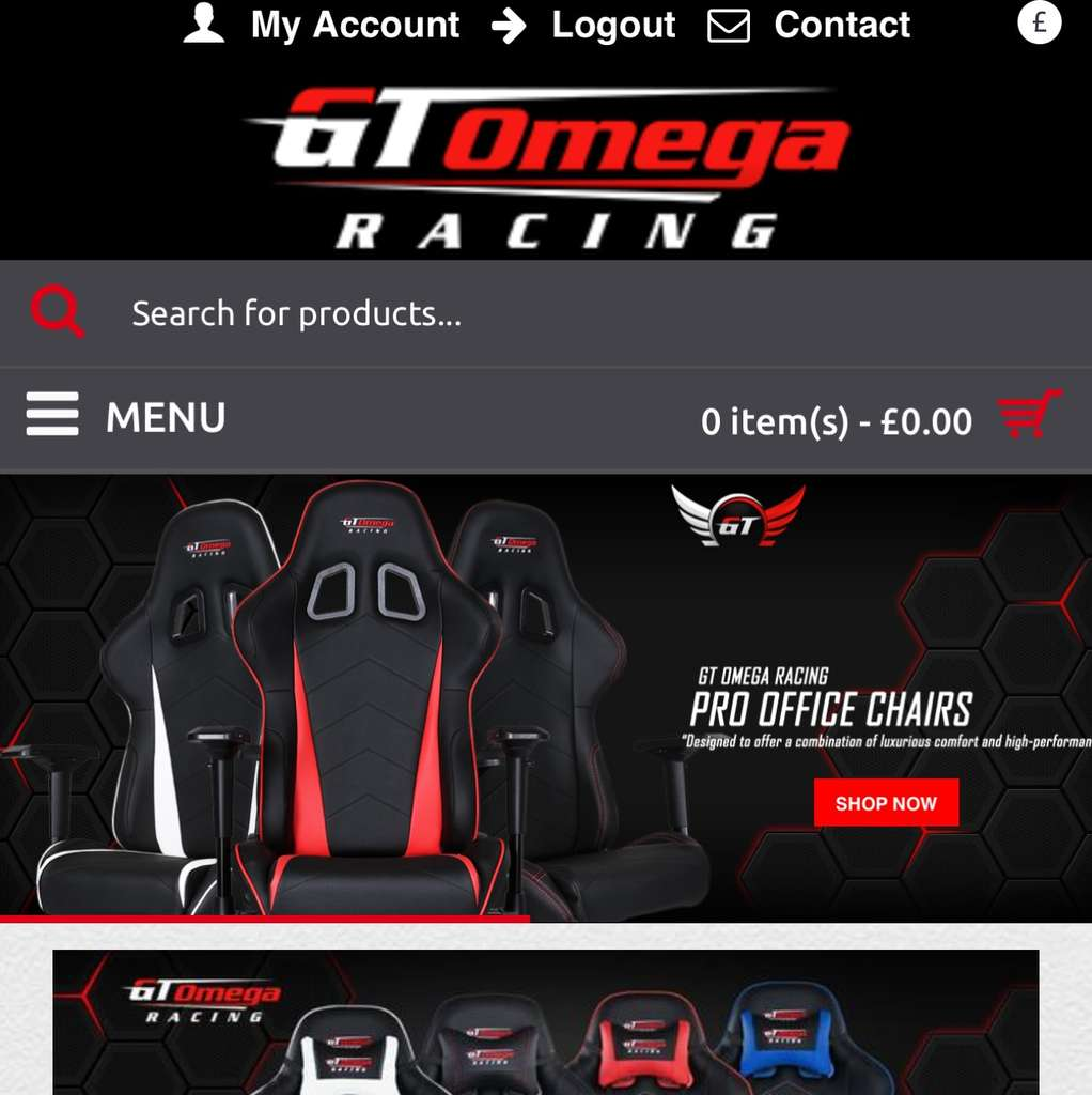 Gt Omega Gaming Chairs 20 Discount Inc Delivery 163 155