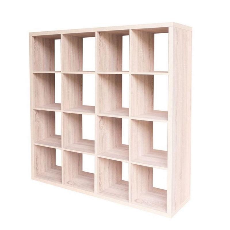new product e0f69 7c856 Homebase Clever Cube Storage Shelf 4x4 (Oak effect & Matt ...