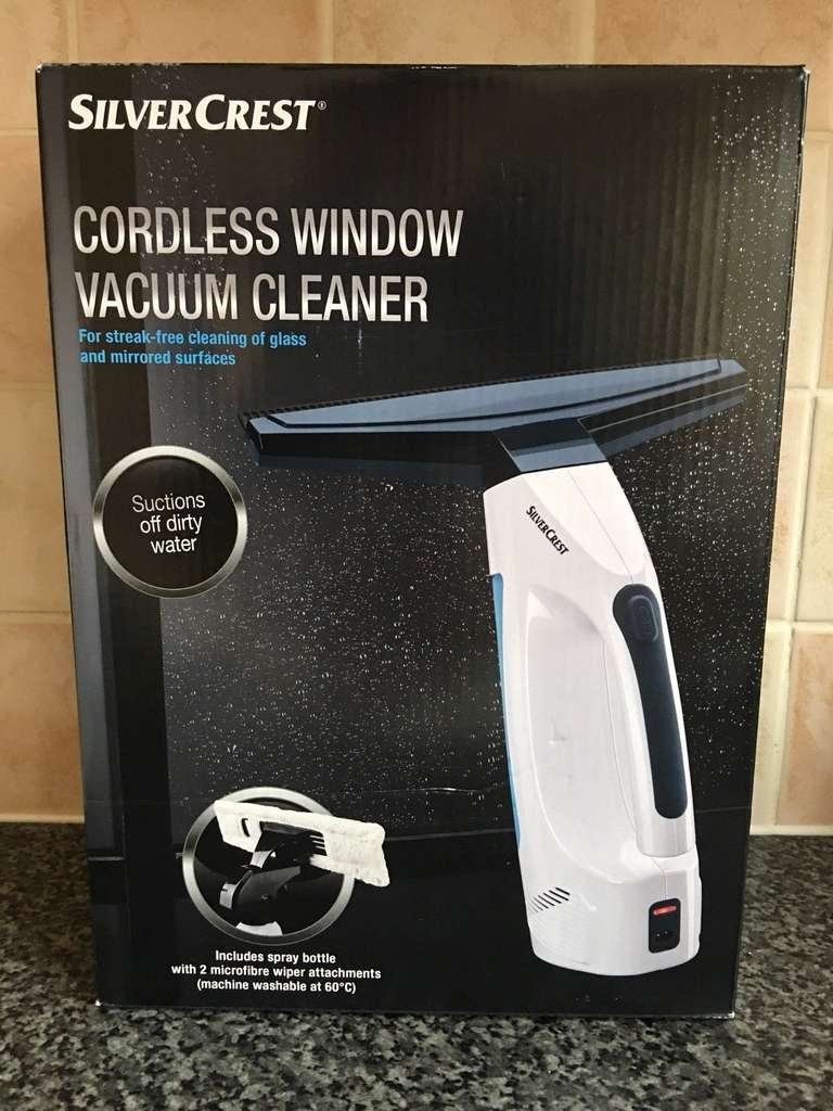 Silvercrest Cordless Window Vacuum Cleaner £5 @ Lidl