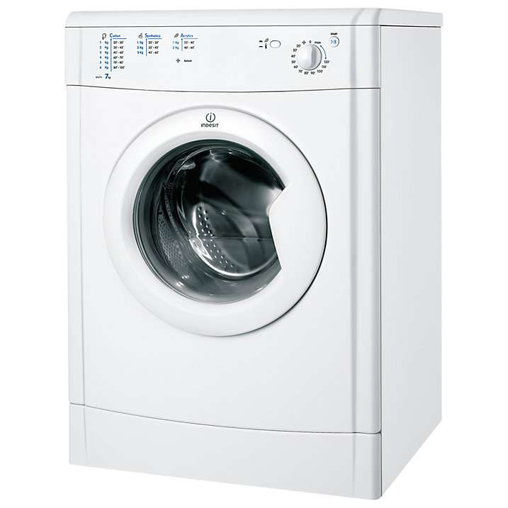 Indesit IDV75 Vented Tumble Dryer, 7kg Load, B Energy Rating, White @ John Lewis for £159 - HotUKDeals