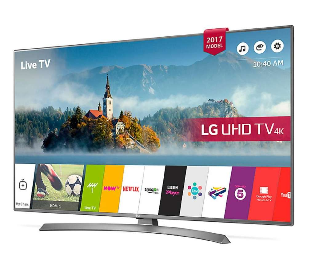 LG 43UJ670V 43 inch 4K Ultra HD HDR Smart LED TV with 6 year guarantee -  £379 @ RicherSounds - HotUKDeals