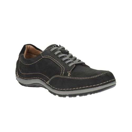 Clarks Outlet Shipley View Black Leather 21 95 Delivered With Free Returns