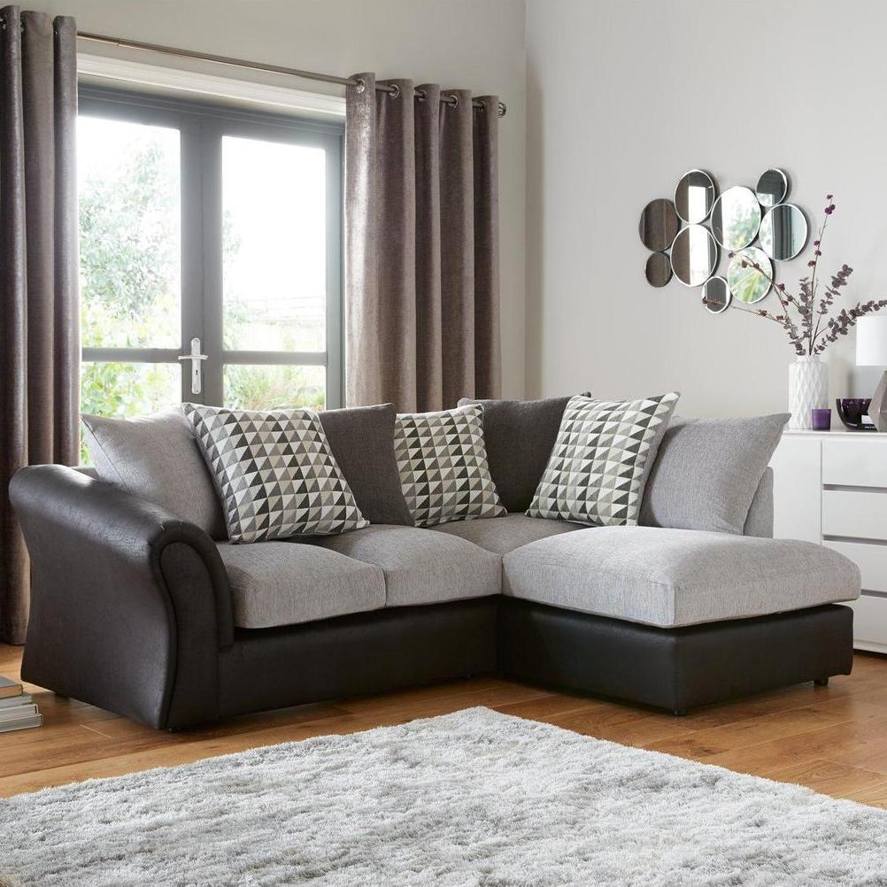 Very Small Corner Sofa Uk: Linear Right Hand Scatterback Compact Corner Chaise Sofa