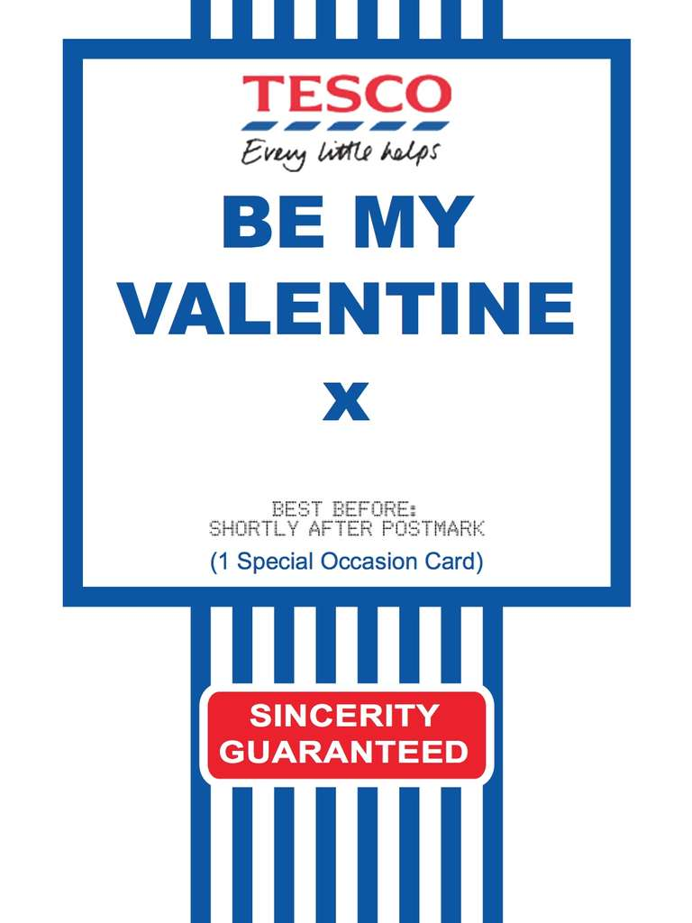 Free Printable Tesco Value Cards For Various Occasions Including