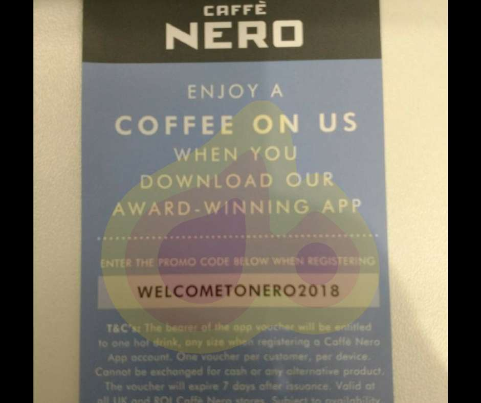 hot drink any size promo code in caffe nero app hotukdeals