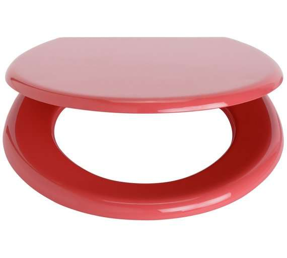 colourmatch toilet seat coral now just argos. Black Bedroom Furniture Sets. Home Design Ideas