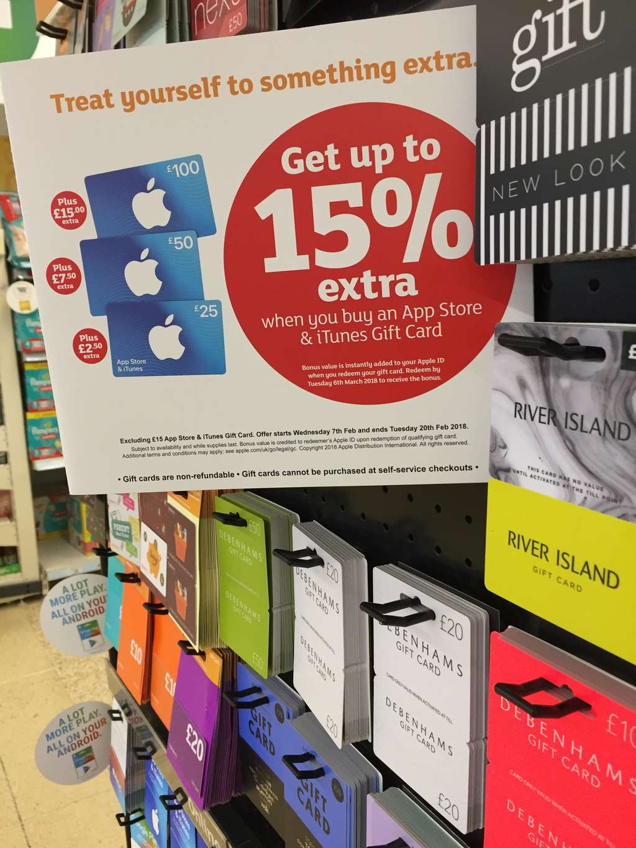 Upto 15 Extra On Itunes App Store Gift Card Sainsbury Instore Us 50 Hotukdeals