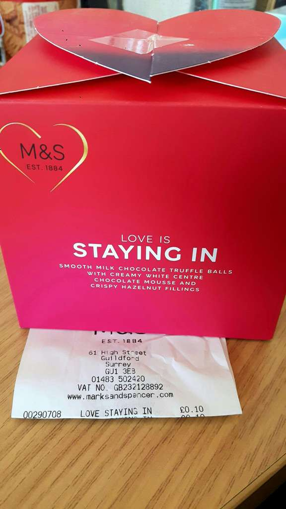 M&S Valentines chocolates & sweets 10p instore - Guildford - HotUKDeals