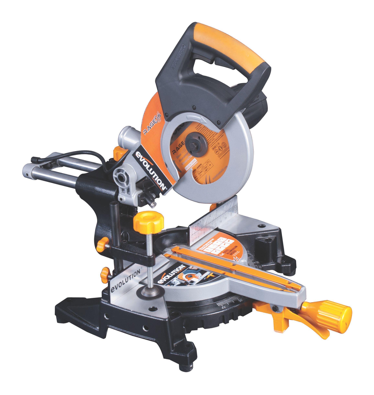 evolution professional 1500w 240v 210mm sliding mitre saw. Black Bedroom Furniture Sets. Home Design Ideas
