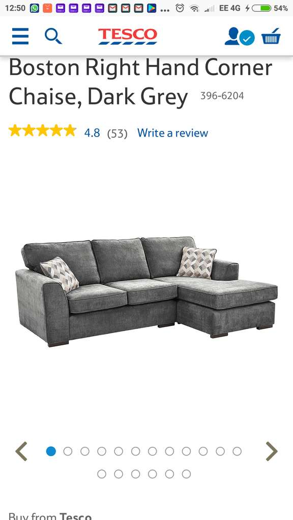 Peachy Tesco Boston Corner Chaise Sofa Back On Sale 384 Pabps2019 Chair Design Images Pabps2019Com