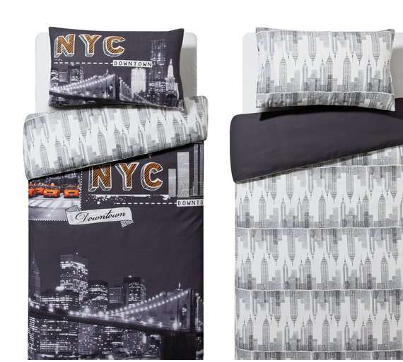 Home NYC reversible bedding sets X2 - single £9.99  OR X2 double £11.99 @ Argos - HotUKDeals
