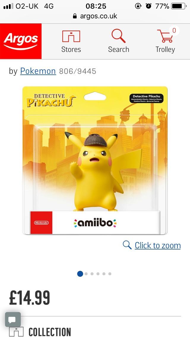 Detective pikachu amiibo 1499 argos hotukdeals fandeluxe Choice Image