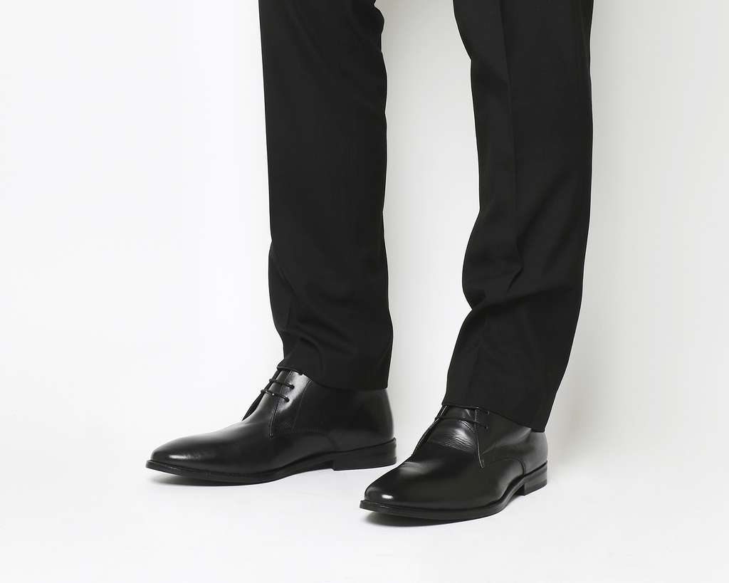 Chukka Boot Black Leather £33.50 delivered @ Office - HotUKDeals