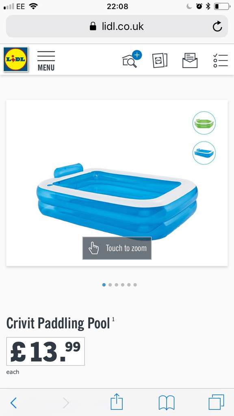 Lidl crivit paddling pool hotukdeals for Paddling pools deals