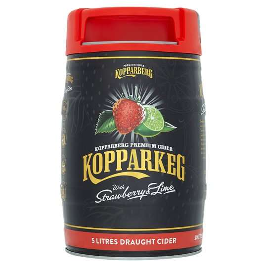 Kopparberg Keg Strawberry And Lime Cider 5L With Free Cooler