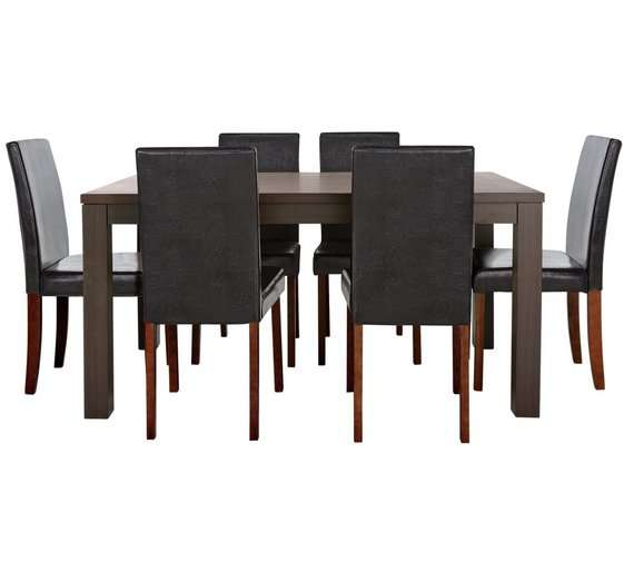 Best Deals On Dining Table And Chairs: HOME Pemberton Walnut Veneer Dining Table & 6 Chairs Was £