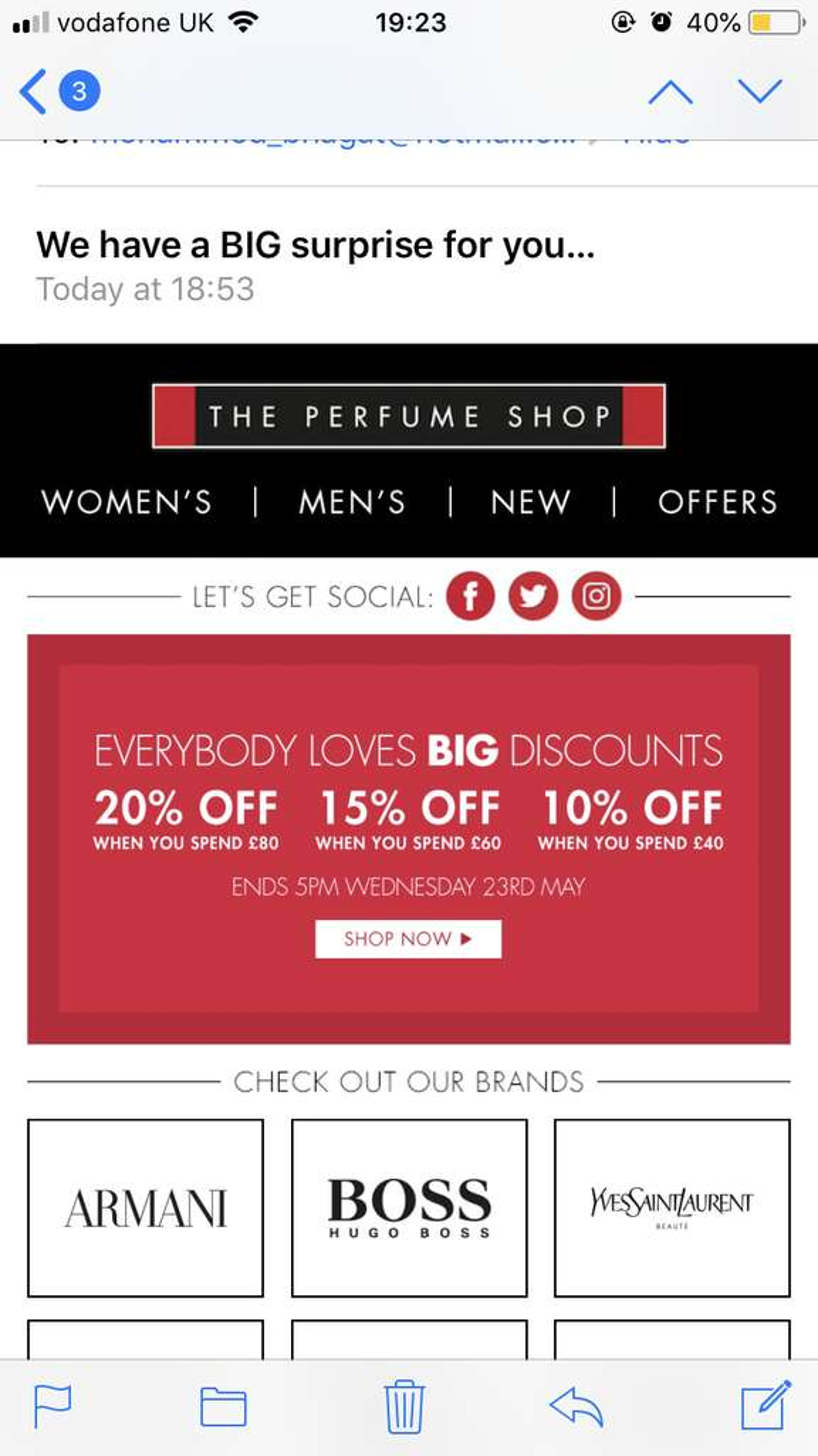 The perfume shop upto 20% off - HotUKDeals