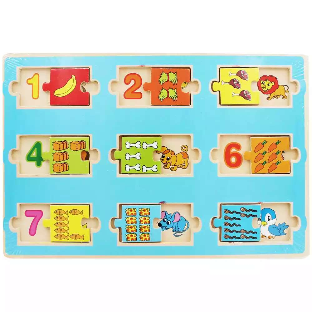 Animal number fun wooden matching game £2 , wooden shape sorter £3 @ The Works - HotUKDeals