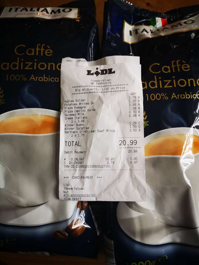 1kg 100 Arabica Or Robusta Blend Coffee Beans 349 Lidl