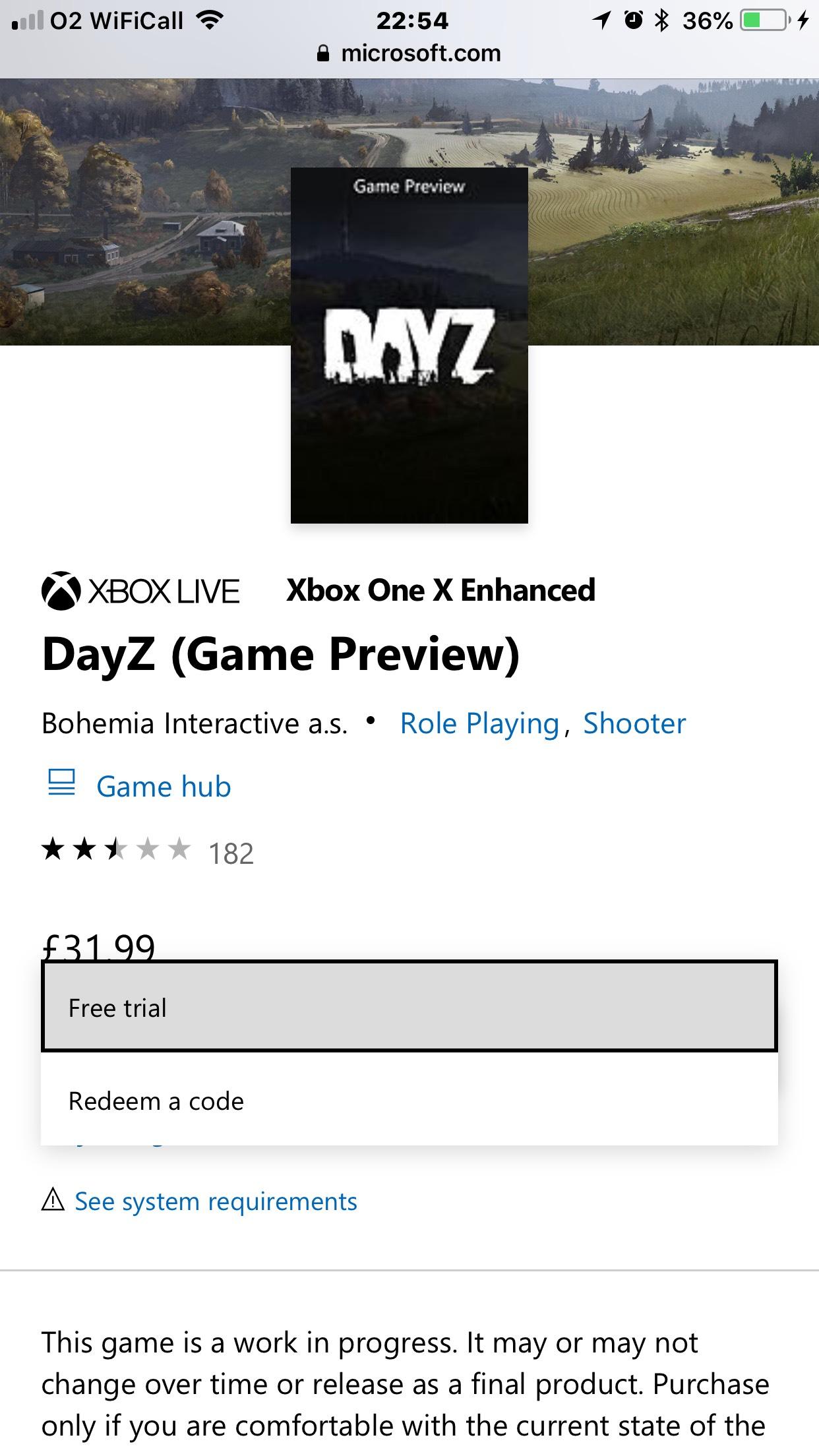 DayZ Xbox one free trial at Microsoft Store - hotukdeals