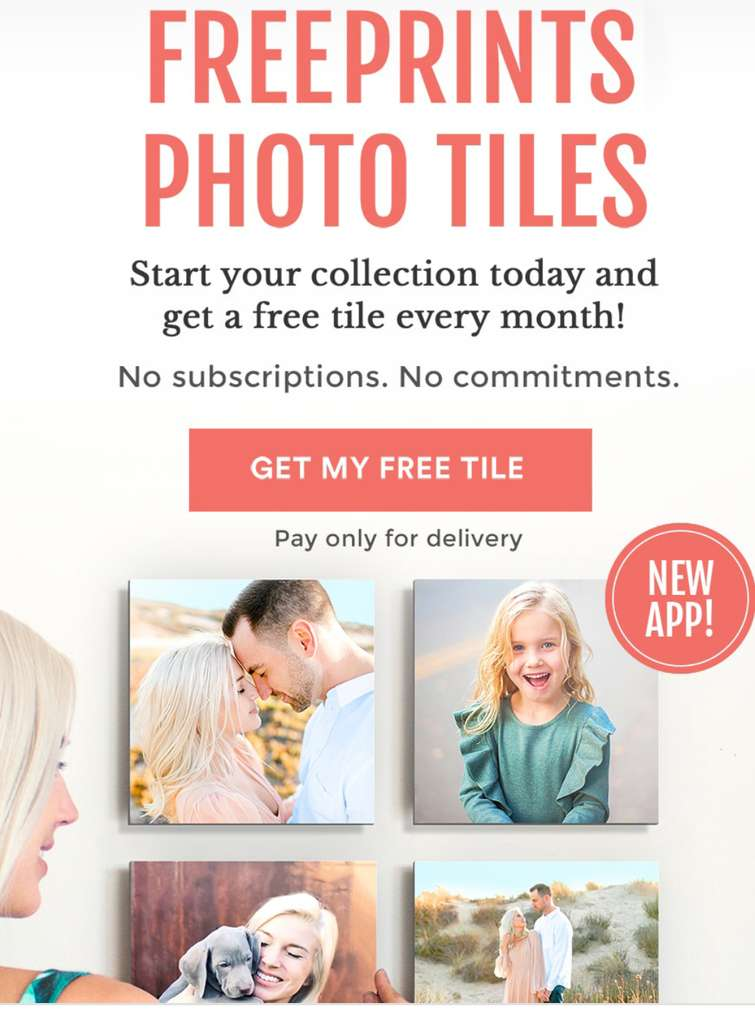 photo tile on free prints photo tile app only pay delivery 5 99