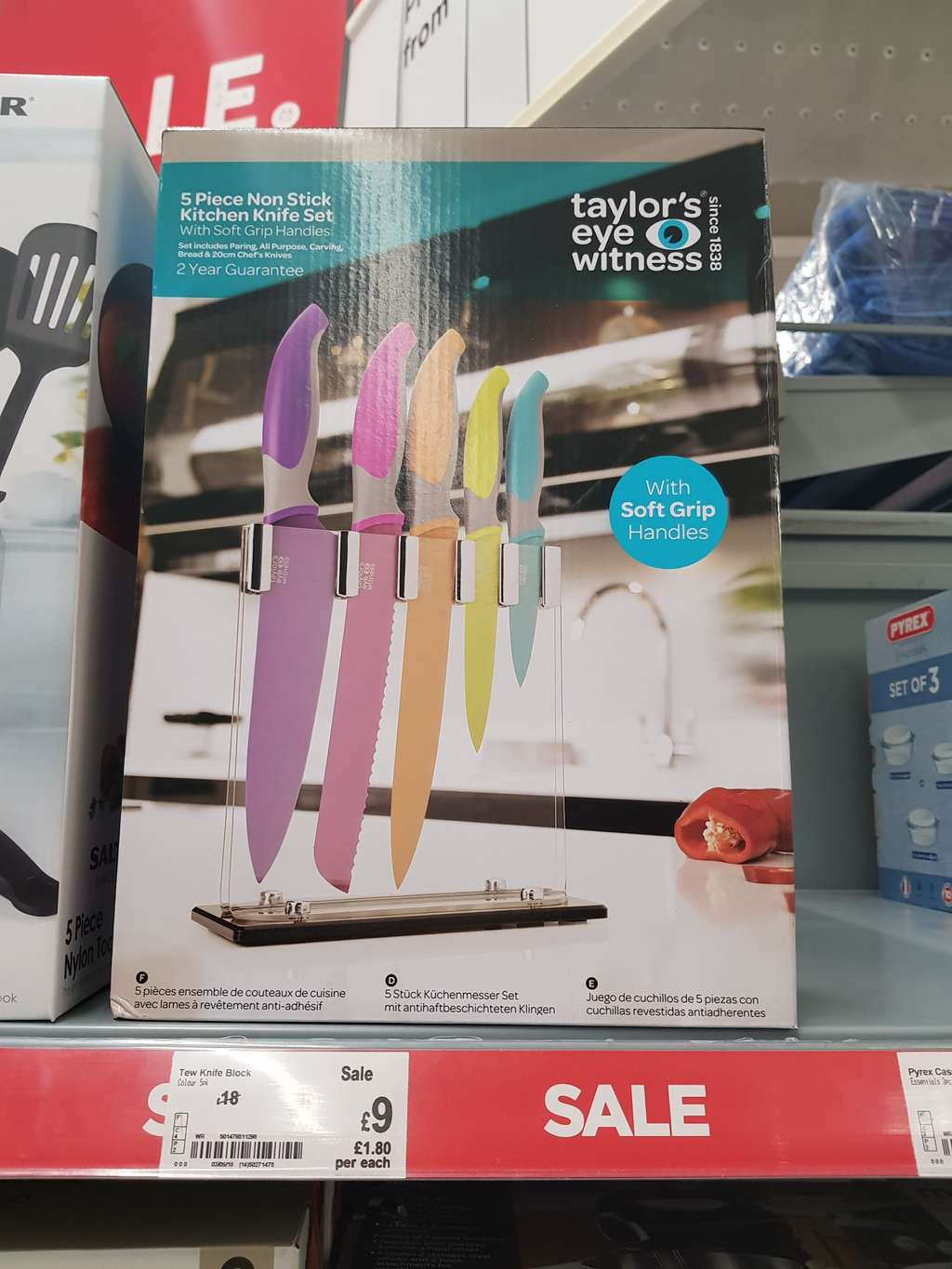 Taylor S Eye Witness 5 Piece Non Stick Kitchen Knife Set