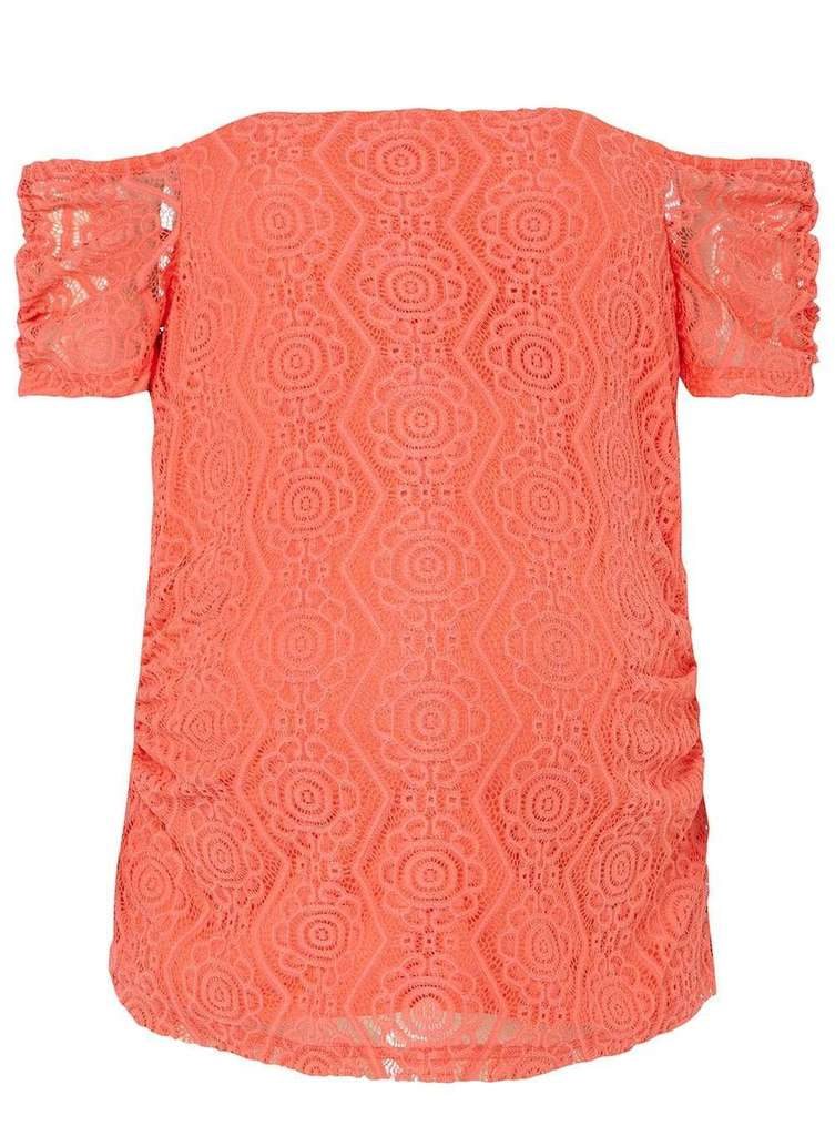 5d6b563b4cd5e Maternity Coral Lace Bardot Top NOW £5.00   Dorothy Perkins (free C C) -  hotukdeals
