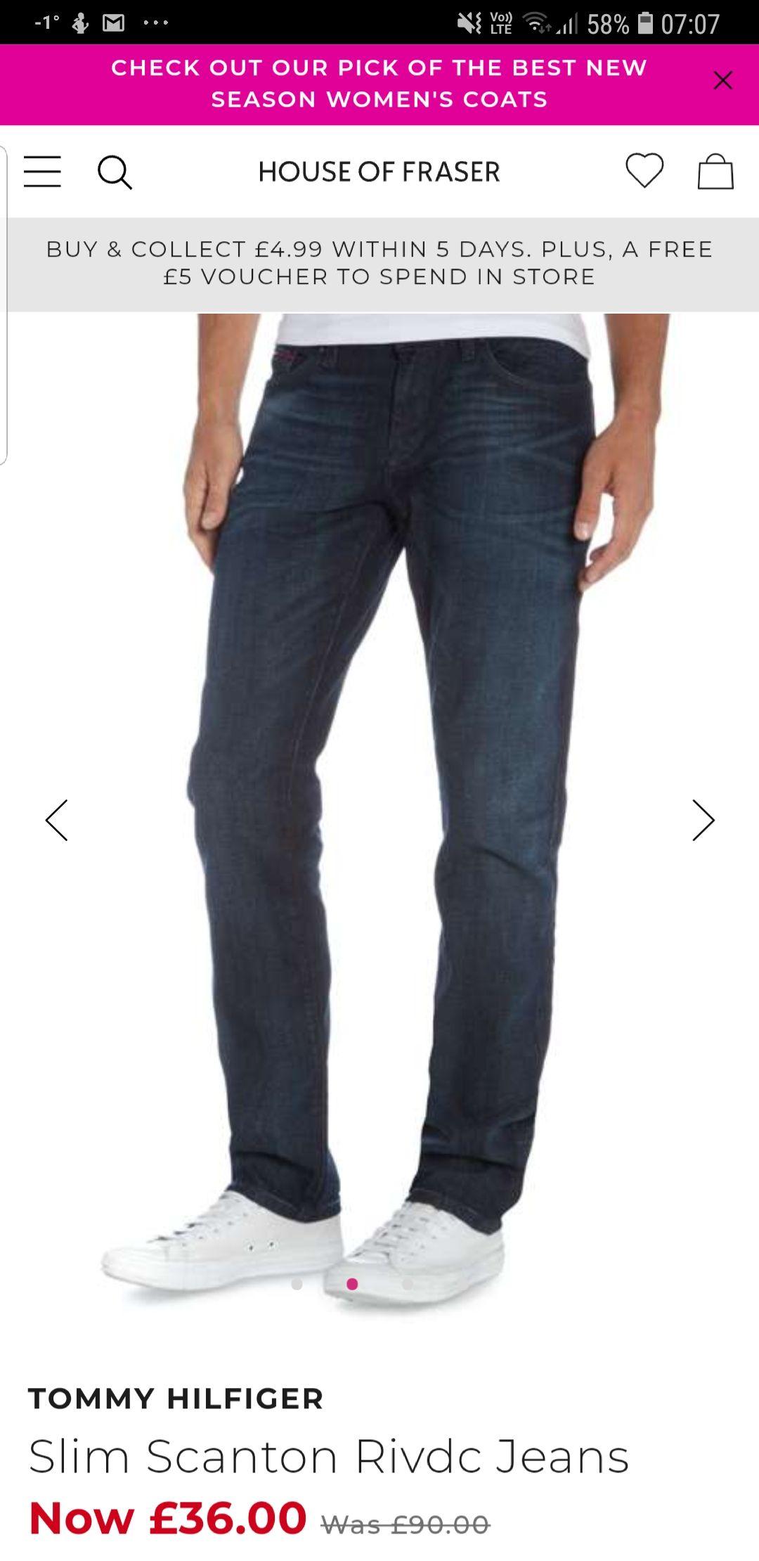 d310377c Tommy Hilfiger Mens slim fit jeans £36 + £4.99 del/c&c at House of Fraser -  hotukdeals