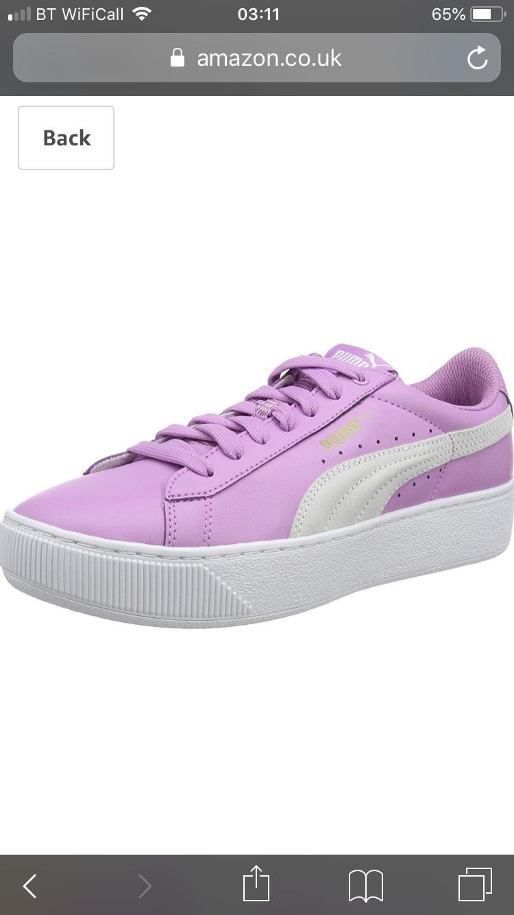 Puma Trainers size 6.5 purple £15.95 (Prime)   £20.44 (non Prime) Amazon -  hotukdeals d34218132