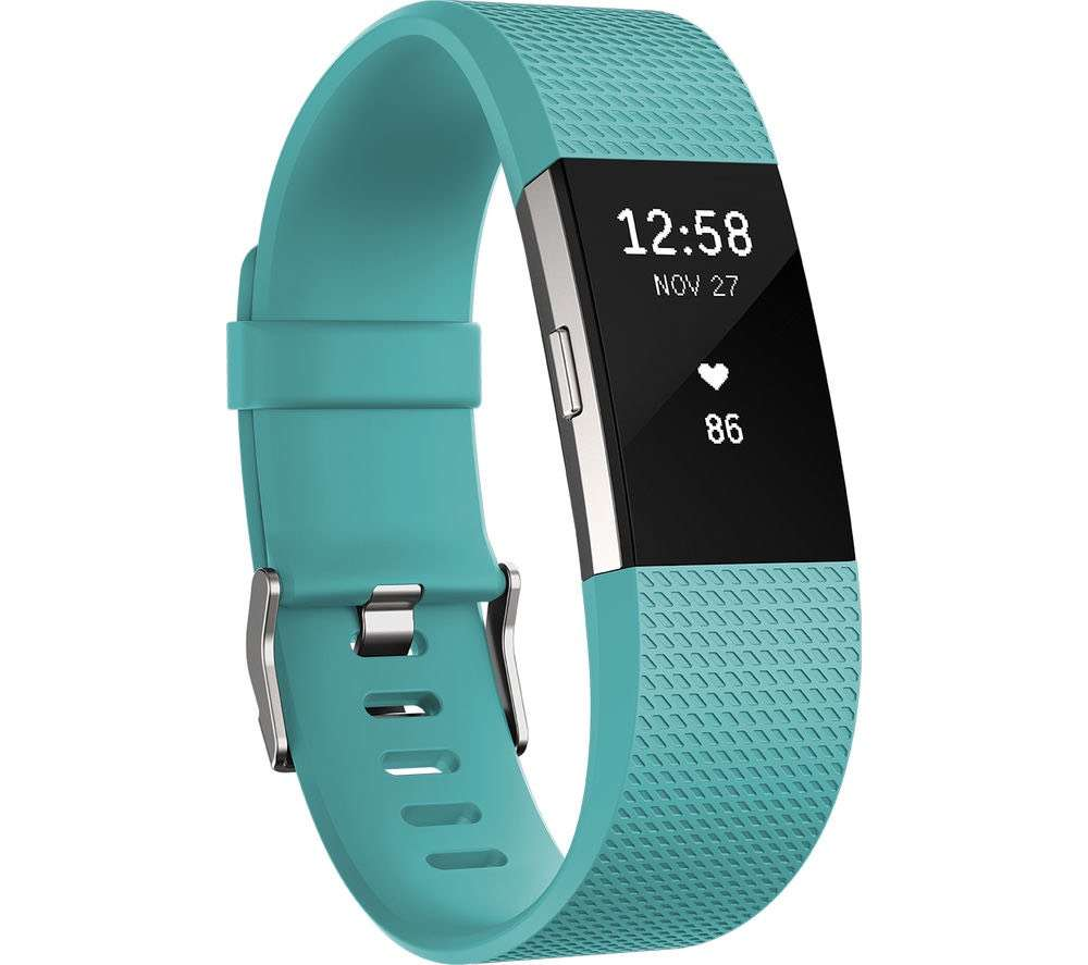 FITBIT Charge 2 - Teal, Large - £69 99 with 2 year Guarantee
