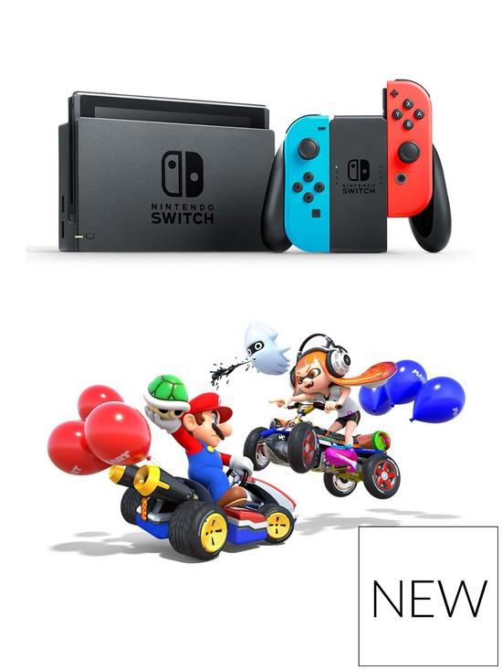 Nintendo Switch Neon Console Mario Kart 8 Deluxe Bundle