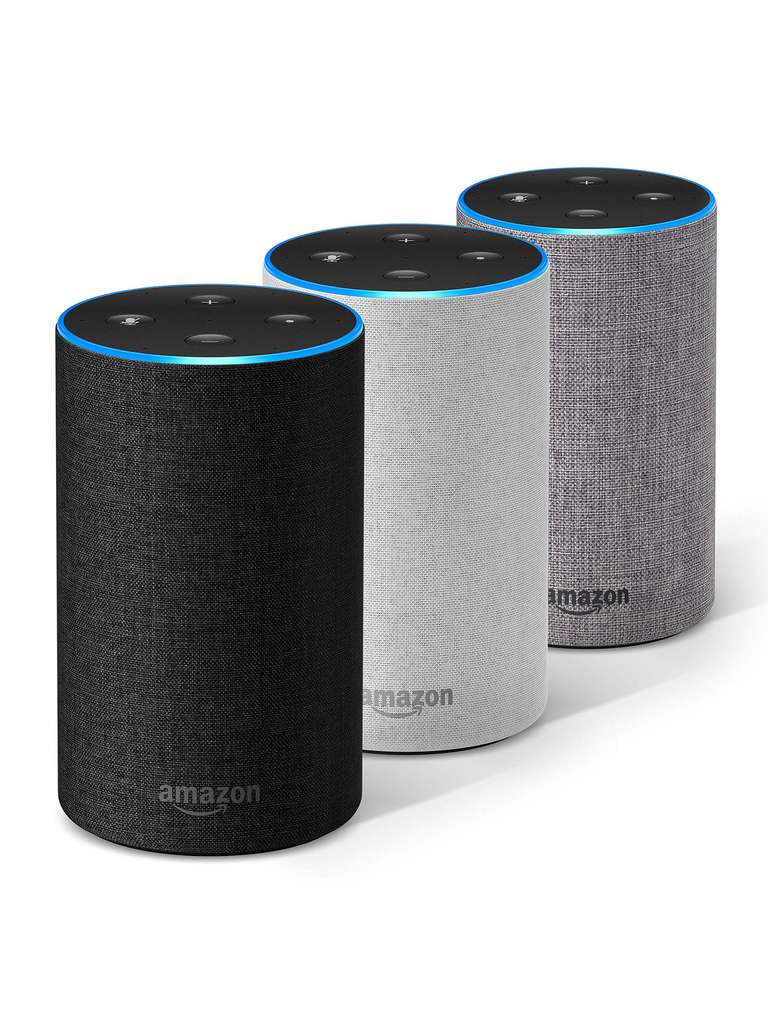 amazon echo 2nd gen heather grey charcoal sand free delivery currys argos free. Black Bedroom Furniture Sets. Home Design Ideas