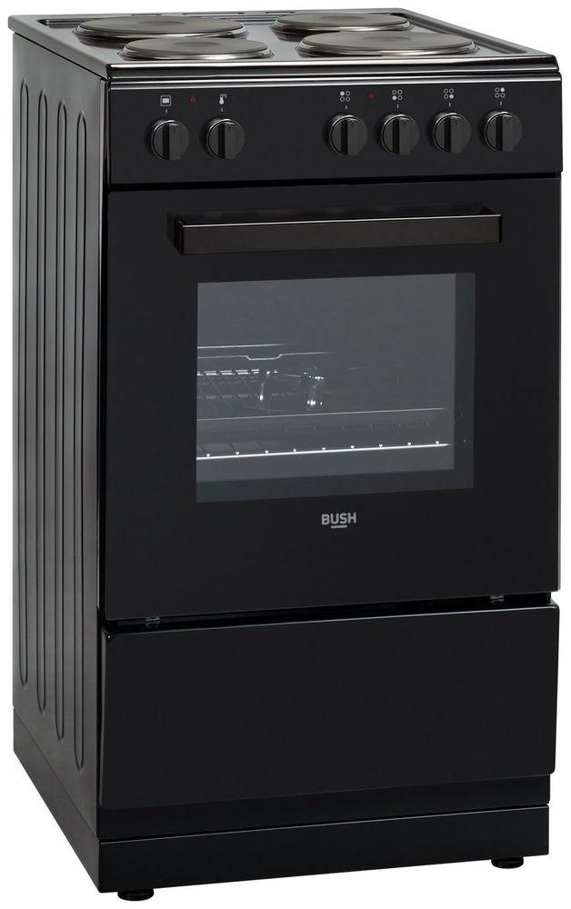 bush dhbes50b free standing 50cm single electric cooker. Black Bedroom Furniture Sets. Home Design Ideas