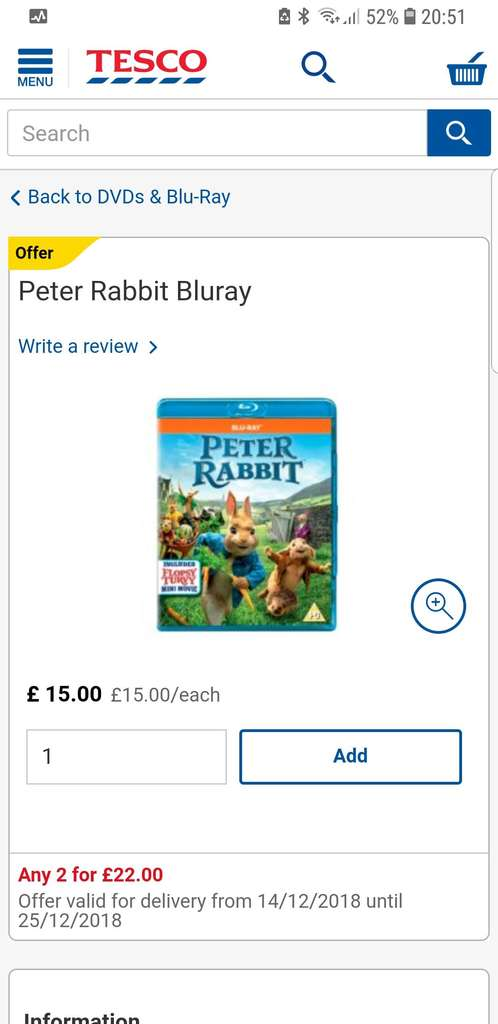 d2ff0668d892 2 x Blu ray £22 @ Tesco ( I got The Meg and Antman and the wasp instore) -  hotukdeals