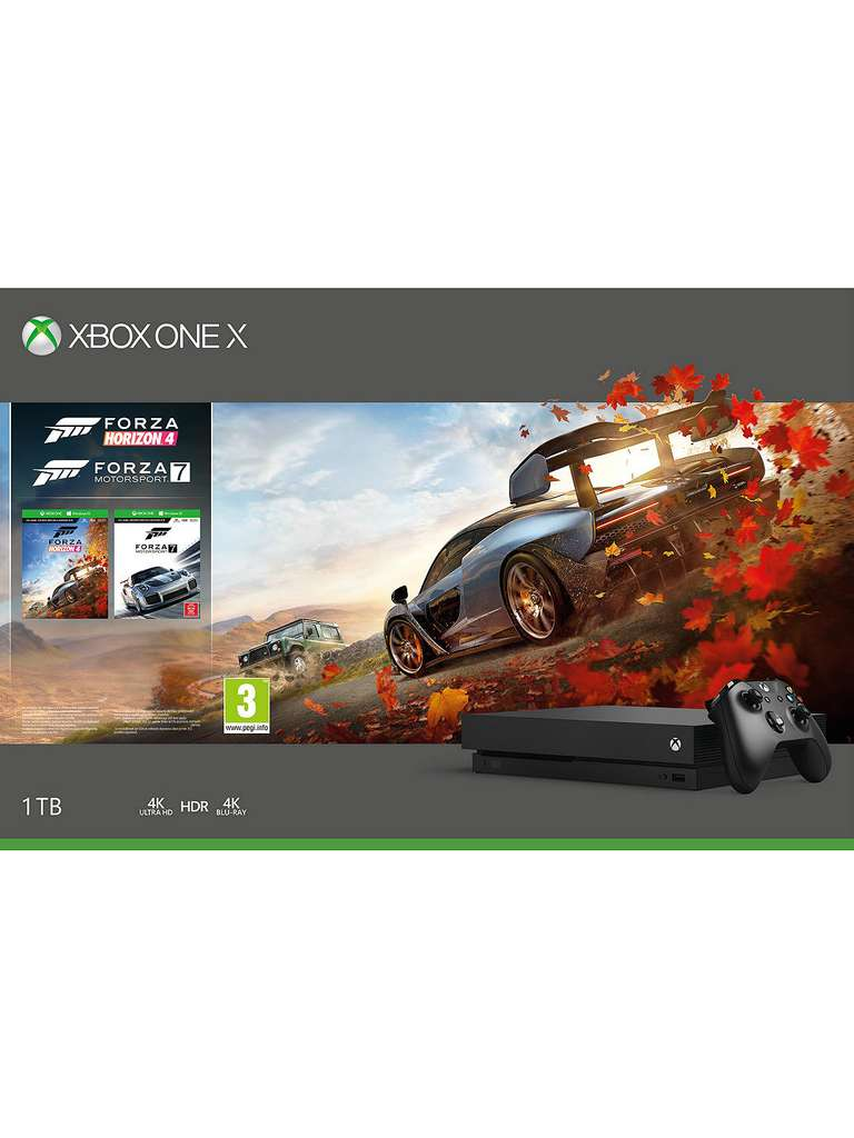 xbox one x 1tb forza horizon 4 forza motorsport 7 or pugb. Black Bedroom Furniture Sets. Home Design Ideas