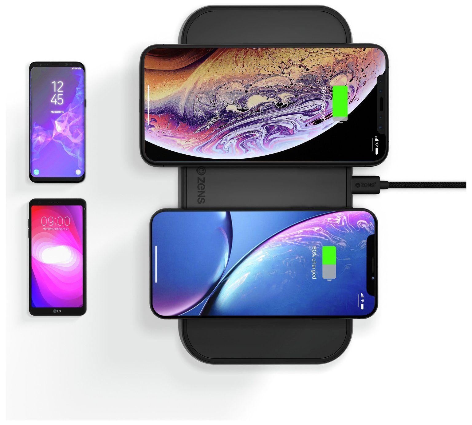 Výsledek obrázku pro ZENS Dual Ultra Fast Wireless Charger