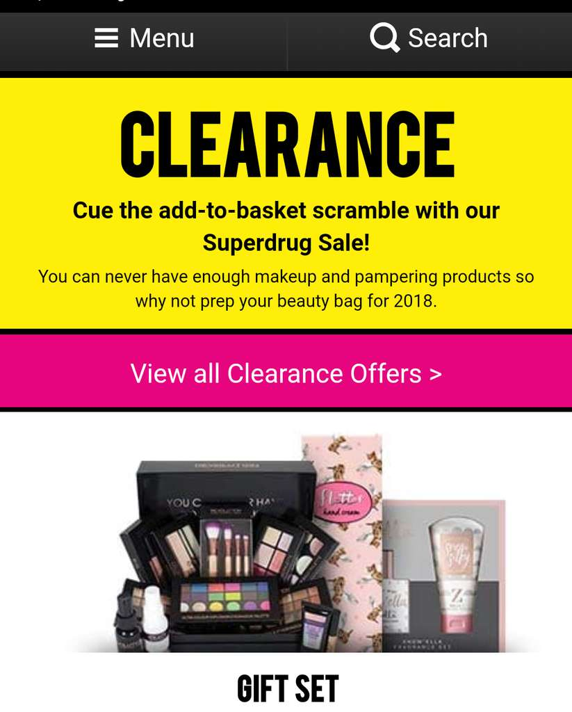 Superdrug Christmas Clearance Now Live Online From £0.29 Upto 75% Off Normal Price