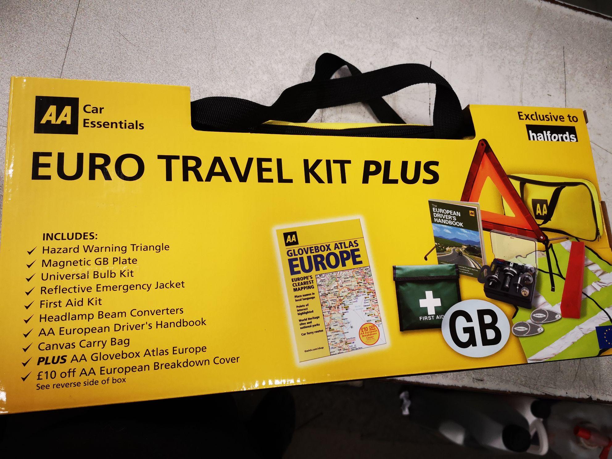 Aa Euro Travel Kit Plus 5 Halfords Instore Hotukdeals