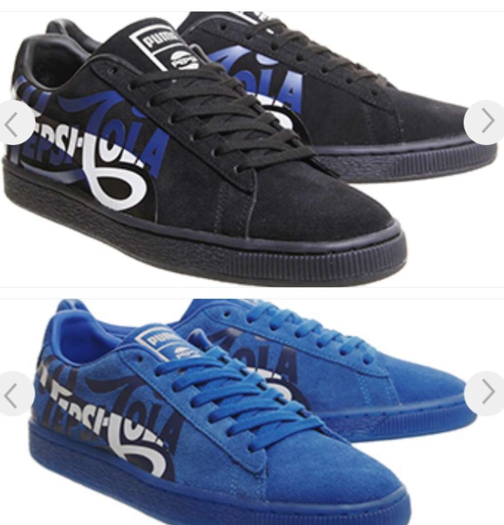 7e2a38ab5ee Suede Classic Puma X Pepsi Trainers Blue  Black size 3-11 now £35   Office  Free C C - hotukdeals