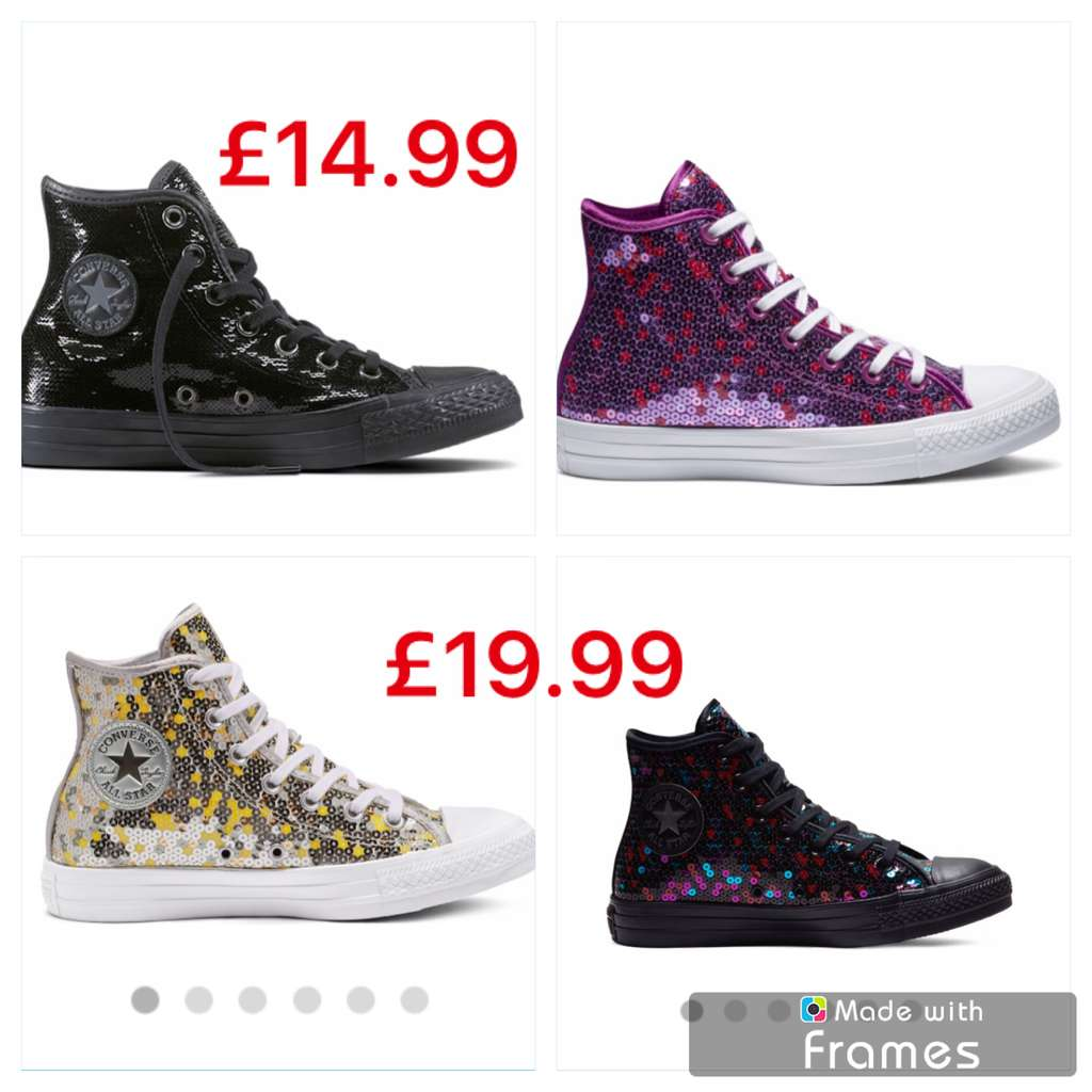 63adebefd85daa Chuck Taylor All Star Sequins now £14.99 + £5.50 delivery Size 3 ...