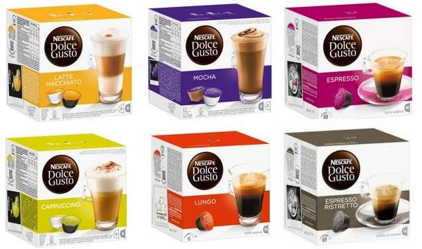 selected nescafe dolce gusto coffee pods pack of 3 9 at. Black Bedroom Furniture Sets. Home Design Ideas