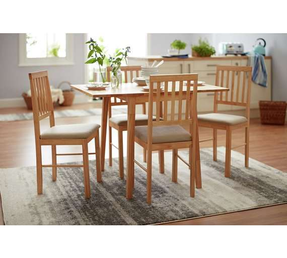 Kendal Large Extending Table Amp 4 Chairs Natural 163 95 99