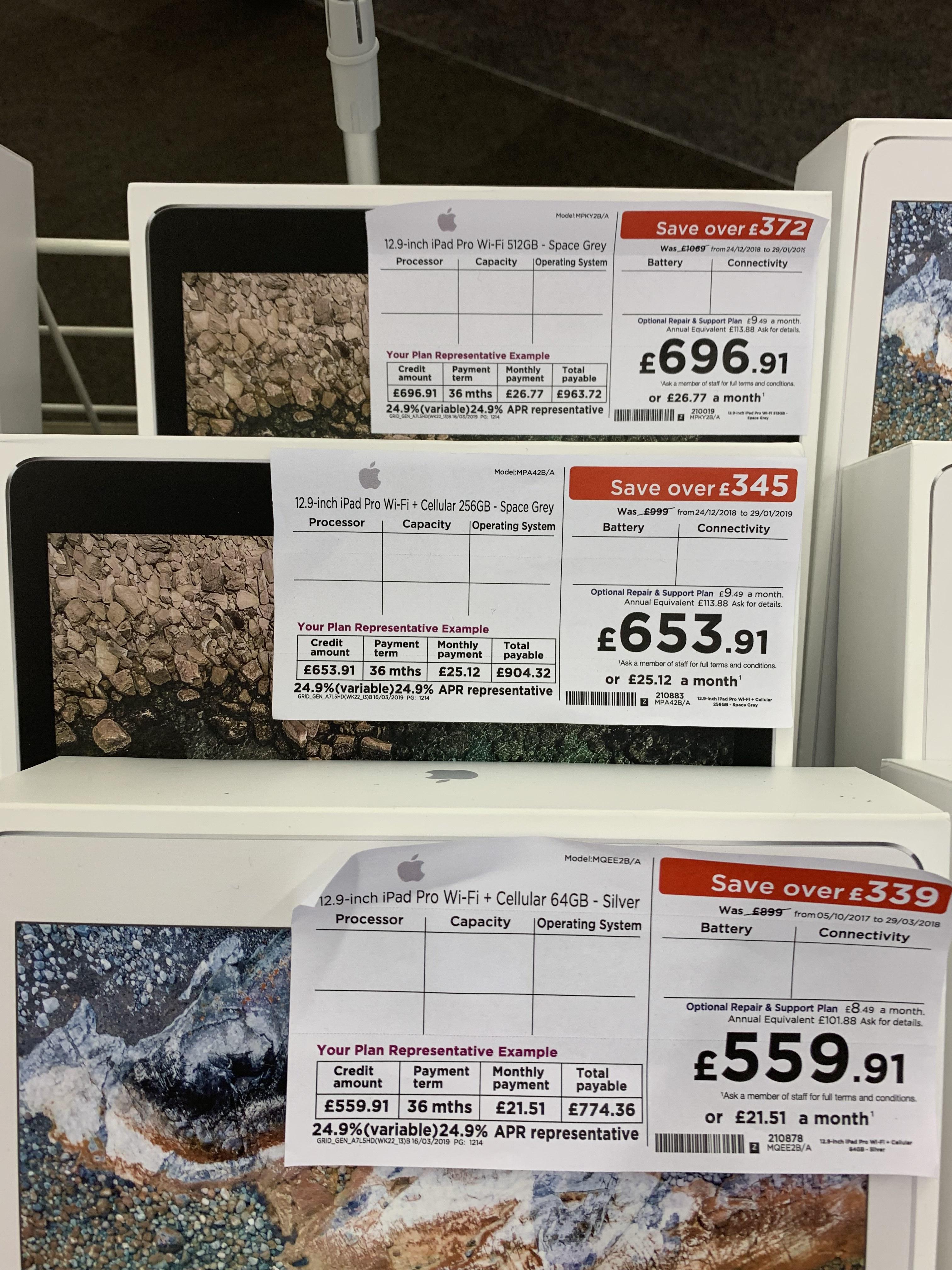 ab4efa151c6 £300 off last generation iPad Pro 12.9 inch £559.91 in Currys PC World  Crawley
