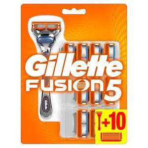Superdrug Gillette Fusion 5 Razor And 10 Blades 163 15