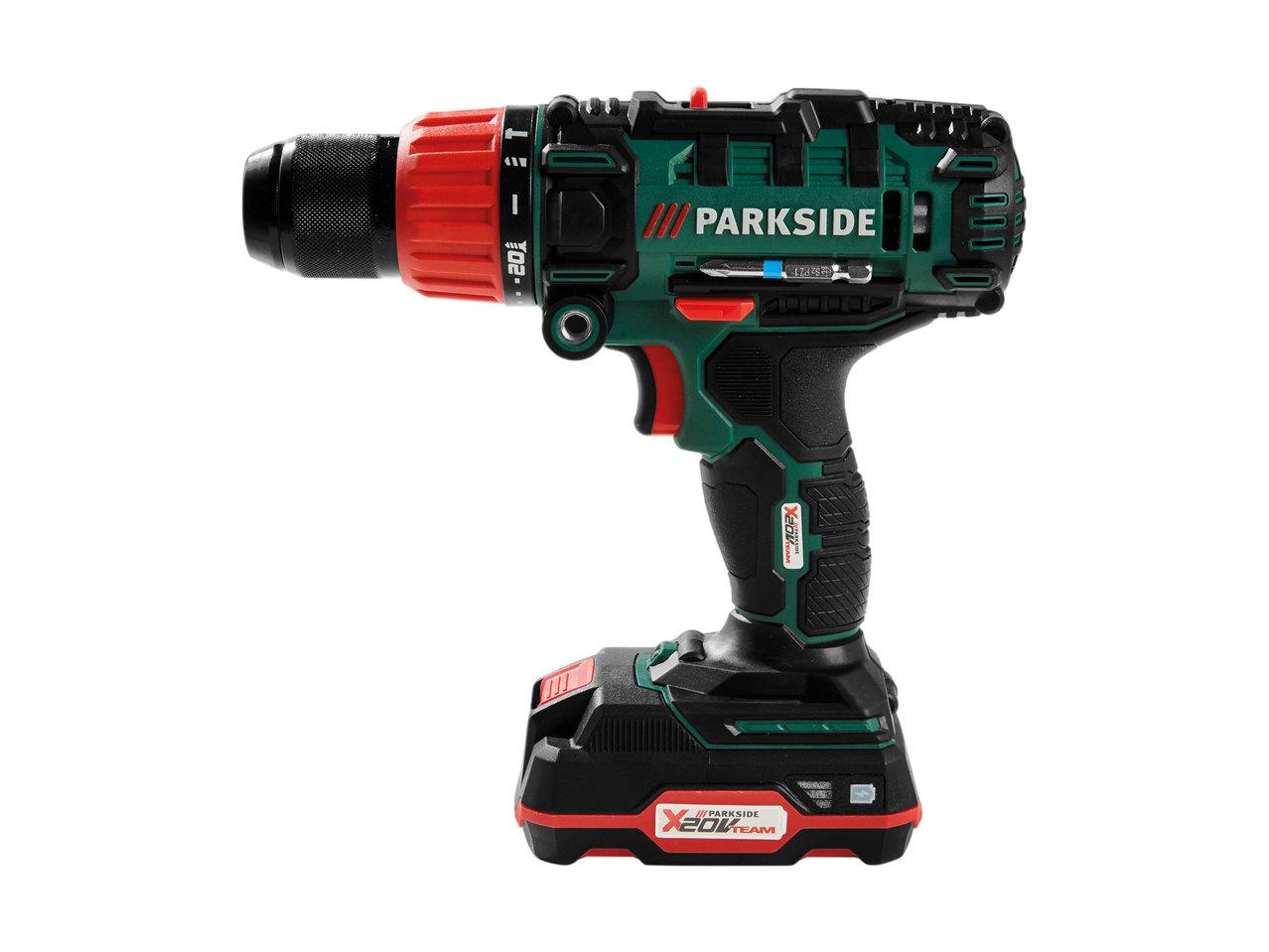 parkside x 20v cordless team hammer drill