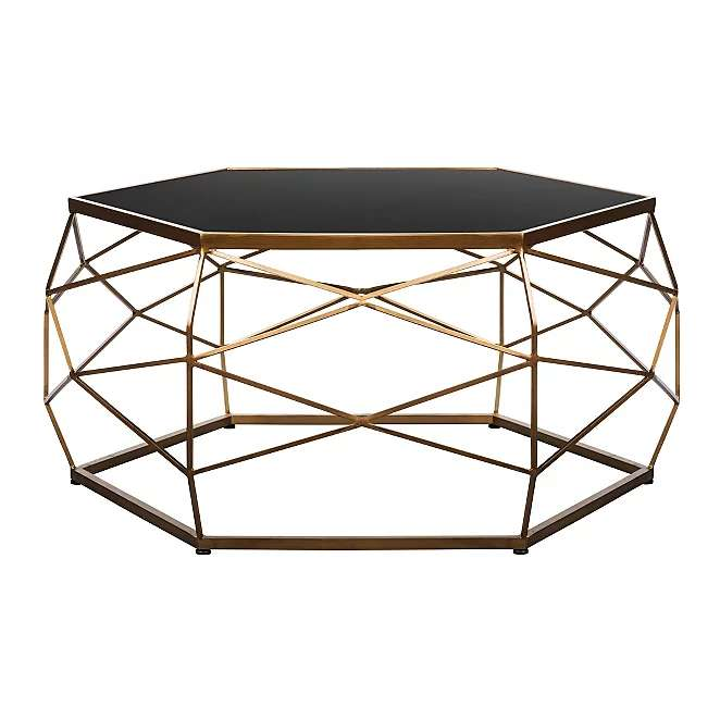 Glass Top Geometric Coffee Table For 60 At George Pp 295