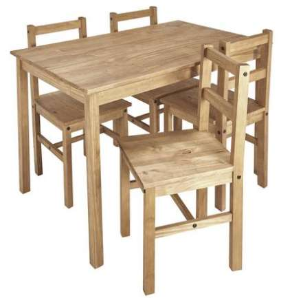 98586a0a509 Argos Home Raye Solid Wood Table   4 Chairs - Natural (See OP for mega list  of reduced furniture) - £79.99 + Free C C + £5 voucher   Argos